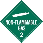 Non-Flammable Gas Tagboard Worded Placard