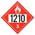 UN 1210 Flammable Liquid Placard - Removable Vinyl