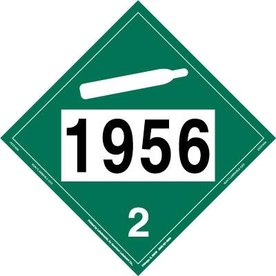 non-flammable gas placard un 1956 - removable vinyl, un hazmat