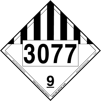 Miscellaneous Dangerous Goods Placard UN 3077, Tagboard