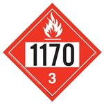 UN 1170 Flammable Liquid Placard - Removable Vinyl