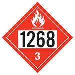 UN 1268 Flammable Liquid Placard - Removable Vinyl