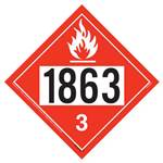 Flammable Liquid Placard UN 1863 - Removable Vinyl
