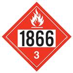 Flammable Liquid Placard  UN 1866 - Removable Vinyl