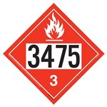 Flammable Liquid Placard UN 3475 - Removable Vinyl