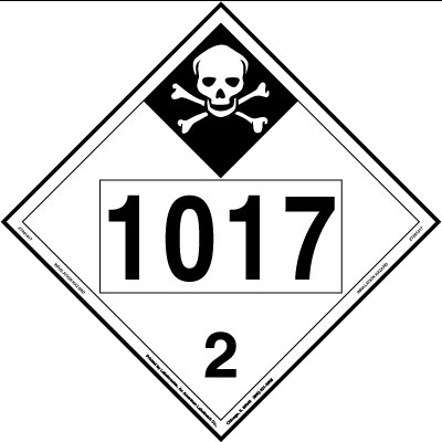 UN 1017 Inhalation Hazard Placard, Tagboard