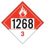 UN 1268 Combustible Liquid Placard, Tagboard