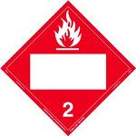 Flammable Gas, Blank UN Placard, Tagboard