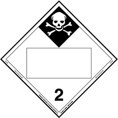 Inhalation Hazard 2 Blank UN Placard, Tagboard