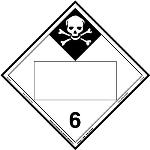 Inhalation Hazard 6, Blank UN Placard, Tagboard