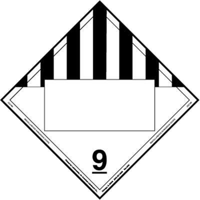 Miscellaneous Dangerous Goods Blank UN Magnetic Hazmat Placard
