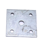 "Galvanized U-Bolt Plate for 1-3/4"" Axles"