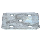 "Galvanized U-Bolt Plate for 1-3/4"" - 2"" Square Axles"