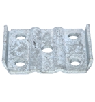 "Galvanized U-Bolt Plate for 2-3/8"" Round Axles"