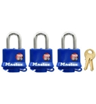 Masterlock 3 Pack Padlocks, Keyed Alike