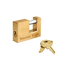 "Masterlock Brass Trigger Lock 2-1/4"" Shackle"