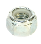 "7/16""-14 Zinc Plated Locknut with Nylon Insert, 10Pk"