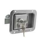"2-3/4"" x 3-3/4"" Locking Stainless Steel Flush Latch, Inside Release"