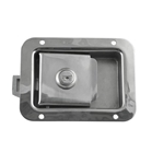 "2-3/4"" x 3-3/4"" Locking Stainless Steel Flush Latch"