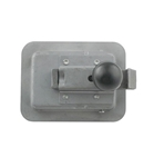 "2-3/4"" x 3-3/4"" Locking Steel Flush Latch w Inside Release"