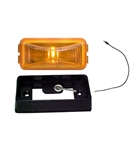 Redline Amber Mini Thinline LED Clearance, Marker Light & Base