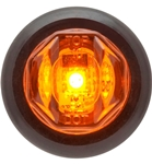 "Redline Amber 3/4"" Round LED Clearance, Marker Light & Grommet"