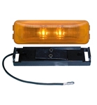 Redline Amber LED Thinline Clearance, Marker Light & Base