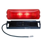 Redline Red LED Thinline Clearance, Marker Light w Base