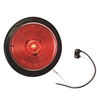 Redline 2in Red LED Clearance, Marker Light with Grommet & Pigtail