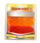 Redline Oblong Red, Amber Stick-on Reflectors
