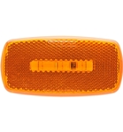 Redline Rectangular Oblong Amber Clearance, Marker LED Light & White Base
