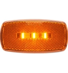 Redline Rectangular Oblong Amber Clearance, Marker LED Light w Black Base