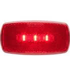 Redline Rectangular Oblong Red Clearance, Marker RV LED Light & Black Base