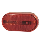 Optronics Red Oblong Incand MRK, CLR Light with Reflector