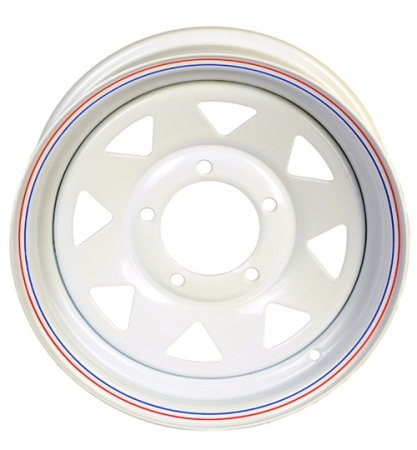 "15"" x 5"" White Spoke Wheel 555"