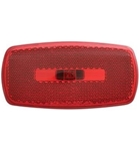 Redline Rectangular Oblong Red Clearance, Marker Light & Black Base