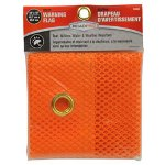 "RoadPro 18"" x 18"" Orange Mesh Flag w/ Grommets"