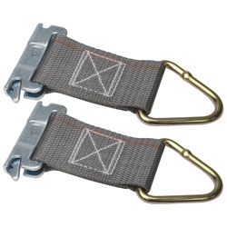 "Kinedyne 6"" Series E, A Rope Tie Off, 2"" Webbing, D Ring, 2 Pack"