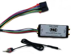 PAC On-Star® Ready Compatible Auxiliary Audio Input, GM Vehicles