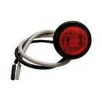"3/4"" LED Round Clearance and Side Marker Light Kit, Red"