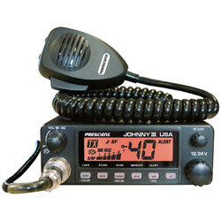 President Electronics JohnnyIII CB Radio Color LCD and Weather Channels, 12V/24V