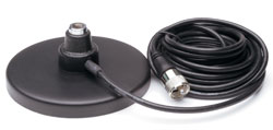 "Solarcon 5"" Magnet Mount CB Antenna Base w Coax Cable"