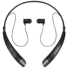 MobileSpec Stereo Bluetooth Wireless Neck Headphones, Black