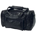 "RoadPro 12"" Patchwork Leather Shave Kit Bag"
