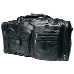 "RoadPro 26"" Patchwork Leather Travel Bag"