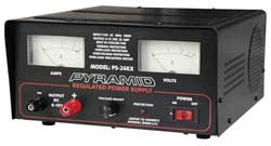 Pyramid 22 Amp Adjustable Power Supply with Dual Meters & Cooling Fan
