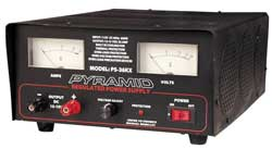 Pyramid 32 Amp Adjustable Power Supply with Dual Meters & Cooling Fan
