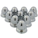RoadPro 33mm Stainless Steel Flanged Lug Nut Covers, 10 Pack