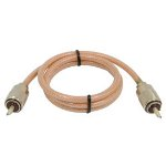 RoadPro 3' CB Antenna Mini-8 Coax Cable, PL-259 Connectors, Clear