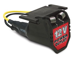 RoadPro 12 Volt Adapter Power Port with 6' Cord
